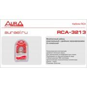 Межблочный кабель AURA RCA-3213 RED